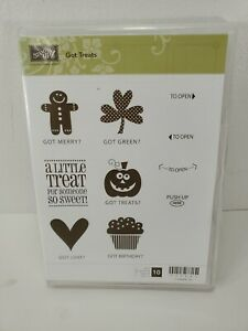 Stampin up Got Treats unmounted rubber stamps