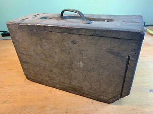 WWI Wooden Box Joint Ammo Case US M1917 Browning Machine Gun Metal Hinge/Latch