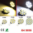 Nice G4 DC 12V 5050 SMD 6/9/12/24 LED Car Boat Light Pure/Warm White Bulb Lamp