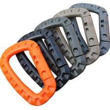 5x Carabiner D-Ring Plastic Key Chain Clip Hook Outdoor Camping Buckle Snap NEW