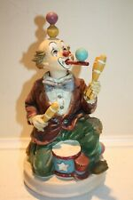 """Melody In Motion 10"""" Juggling Clown Sculpture Music Box"""