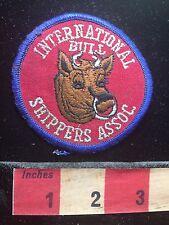 Vtg Bovine Nose Ring Patch INTERNATIONAL BULL SHIPPERS ASSOC. 73X8