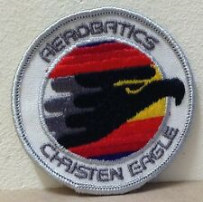RARE Aerobatics Christen Eagle Patch Black embroidered Air Show USA 2 3/4""