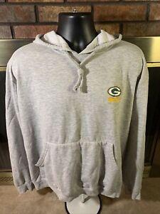 GREEN BAY PACKERS NFL Football Hooded Hoodie SWEATSHIRT Mens Size XL Grey