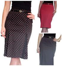 Knee Length Pleated, Kilt Business Regular Skirts for Women