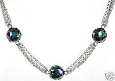 Menegatti Solid 925 Sterling Silver Multi-strand Necklace '