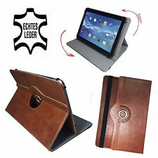 10.1 pollici in Pelle Tablet PC Custodia-Acer ICONIA a500 ASTUCCIO - 360 ° marrone vera pelle