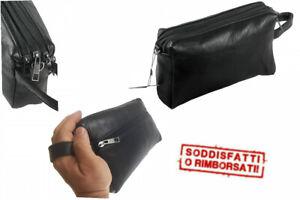 Borsello uomo Donna nero a mano Pochette Da Polso borsa casual marsupio 2022