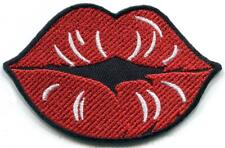 Lips mouth sexy kiss smooch diy embroidered applique iron-on patch S-1603