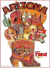 Arizona Southwest United States America Vintage Travel Advertisement Art Poster