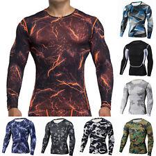 Mens Apparel Skin Running Compression Sports Tights Base Layer T- Shirts Tops F