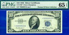 Rare FR-1706* 1953 $10 S/C (( STAR )) PMG Gem-UNC 65EPQ # *00069912A
