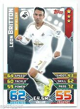 2015 / 2016 EPL Match Attax Base Card (283) Leon BRITTON Swansea