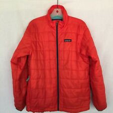 Patagonia Boy's M Sz 10 Full Zip Everyday Jacket W/Zipp Closure Pockets - Orange