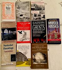 Lot of 10 Books/Booklets New England Haunts Ghosts Witches Superstitions