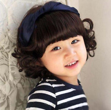 Cute Korean style Baby Infant Child Wig Long Curly Hair Princess Girl Wig Black