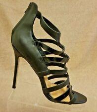 Nuevo Badgley Mischka Mujeres Negro Stiletto Tacones Altos Sandalias  Gladiador Talla 8 M 674dbe7ada2e