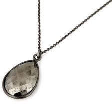 Oxidized 925 Silver Necklace Jewelry Gemstone Pyrite Chain Fashion Pendant