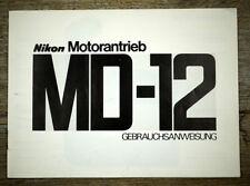 NIKON Bedienungsanleitun MOTORANTRIEB MD-12 User Manual (X5094