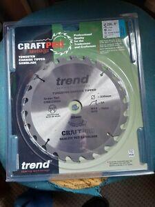 Trend 230mm Craft Pro 24 Teeth Circular Saw Blade CSB/23024
