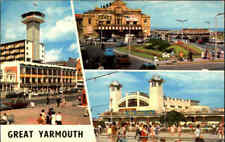 England Postcard ~1970 Mulit-View GREAT YARMOUTH color Postkarte Ansichtskarte