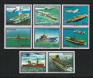 Paraguay 1983 Sc#2101a-f,#2104  Carriers & Airplanes/Catapult/Label   MNH Set $6