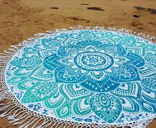 """50"""" Hippie Bohemian Mandala Round Tapestry Roundie Beach Throw Indian Yoga Mat"""