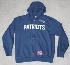 New England Patriots Zip Hoodie Sweatshirt Men's LARGE L Navy Blue NFL Majestic
