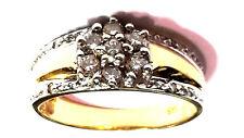 Brillant Bague or 585/14ct diamants environ 0.1ct