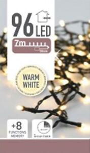 LED-Lichterkette Batterie - 96 LED - Warm Weiß - 7,2m