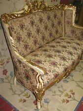 Exceptional c. 1900 French Rococo Cream & Gilt Sofa - Fabulous Condition