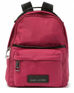 New Marc Jacobs Small Nylon Backpack Rugsack Magenta