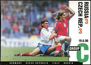Football Maxicard 1996 Russia V Czech Rep. Unused #C26357