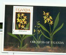ORCHIDEE - ORCHID FLOWERS UGANDA 1989 block