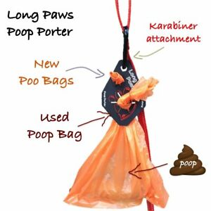 Poop Porter - Poo Bag Holder for New and Used Poo Bags - Easy way to carry