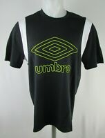 Umbro Men's Short Sleeve Diamond Graphic T-shirt in Black and Green