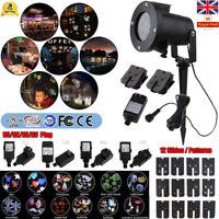 Christmas LED Magic Moving Laser Projector Landscape 12 Patterns Outdoor Lamp UK