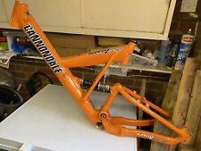 Retro Cannondale frame Super V Freeride Orange Fox Coil Coda Caad bike mtb dh