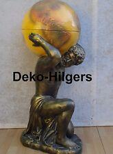 Globus Bar Figur Herkules Welt Atlas Minibar Dekoration Reklame Skulptur F13