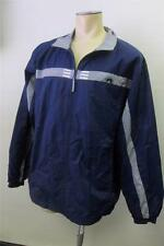 mens ADIDAS blue ZIP UP jacket sz XL X LARGE running LINED 3 stripes CLEAN track