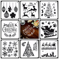 8pcs Christmas Layering Stencils Embossing Template Painting Scrapbooking Decor