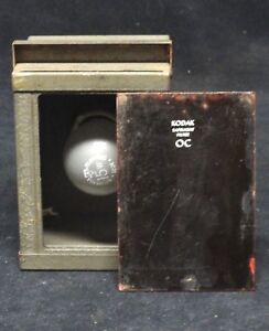 "KODAK - AMBER SAFELIGHT FILTER OC - 5"" X 3.75"" - VINTAGE - Safe light lamp"