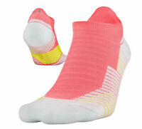 UNDER ARMOUR Women's Run Cushion No Show Tab Running Socks sz Medium (6-9) Pink