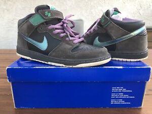 "Nike SB Dunk Mid ""Northern Lights"" Size: 10.5 Black Sea Green 314381-031"