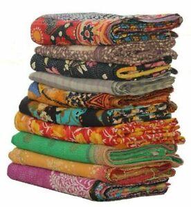Indian Handmade Wholesale Vintage Lot Kantha Quilt Throw Reversible Fine Blanket