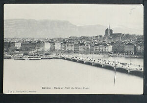 SWITZERLAND 277-GENÈVE -Rade et Pont du Mont Blanc.