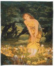 Edward Robert Hughes 1908 midsummers Eve Belga Tapiz Colgante De Pared 85 X 68CM