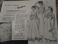 """308 ANCIEN PATRON """"VOTRE MODE 3 VERSIONS COMBINAISON  ELEGANTE   T 44 1953"""