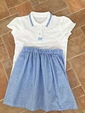 School Skirt Handmade And Matching Tshirt 7-8 Yrs
