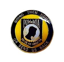 POW MIA Lapel Pin Prisoner of War Missing in Action Gold Plate Awareness Tac New